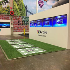 4Active fitness gaming platform supplied by Axtion Tech