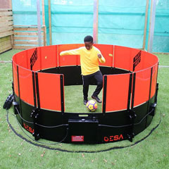 Fulham Youth player Ma'kel Campbell trains with ICON Mini Fast Feet sports technology