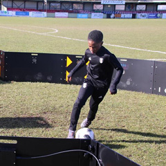 Young football player with ESA ICON Arena V2 sports technology