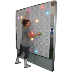 IMM T-Wall interactive light wall supplied by Axtion Tech