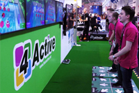 Males compete using CSE Entertainment 4-Active multiplayer positive gaming system