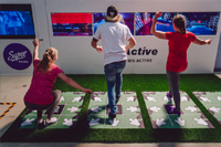 Three players compete on 4-Active fitness tech platform with ActivePad