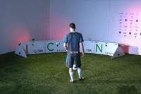 Football player Adam Lallana training with ESA ICON Q sports technology