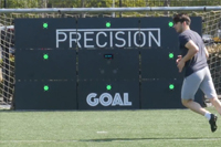 Football player with ESA Wireless Circuit and Precision Goal sports technology