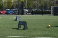 Football practice with ESA Wireless Panels performance training system