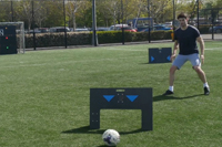 Young male soccer player trains with ESA Wireless Circuit sports technology