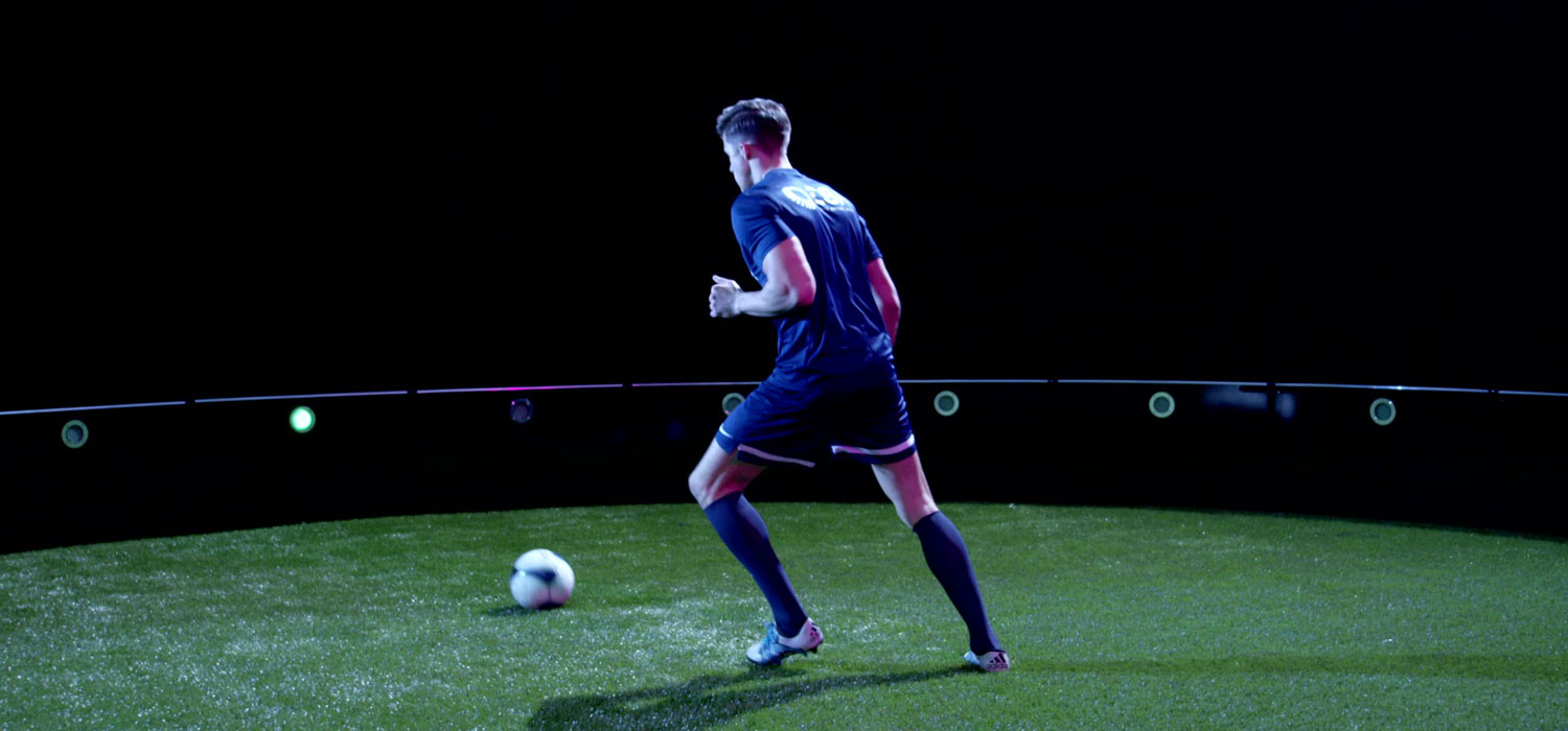 Mael footbals player trains with ICON arena